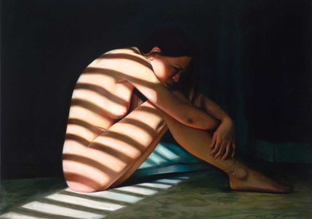 Embrace - 2014 - oil on linen - 78 x 102 cm - Available